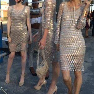 NWOT Wallesk Eco Chic Pop Top NYE party midi dress